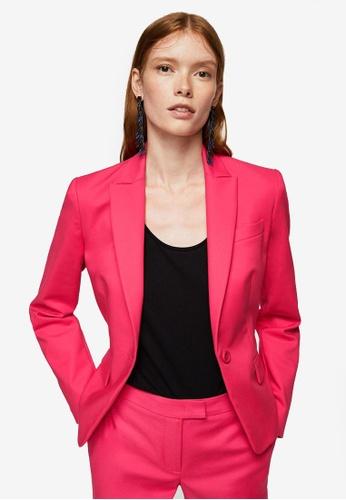 Mango pink Essential Cotton-Blend Blazer 37640AA6EE1E54GS_1