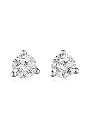 MaBelle silver 18K/750 White Gold Single Diamond Earrings 58CD9AC0685A54GS_1