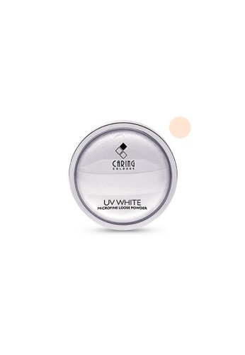 Caring beige CARING COLOURS UV WHITE MICROFINE LOOSE POWDER 04 TRANSPARENT 971E1BE6EB7F8BGS_1