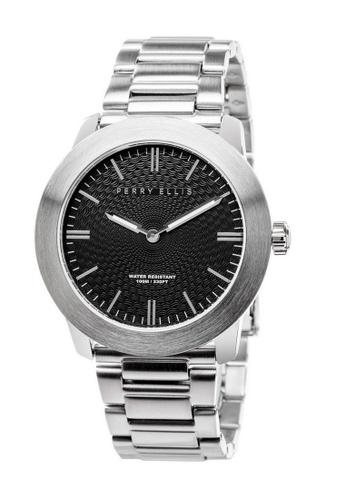 PERRY ELLIS silver Perry Ellis Slim Line Unisex 42mm Quartz Stainless Steel Watch 07001-02 6CCFEACE9A6458GS_1