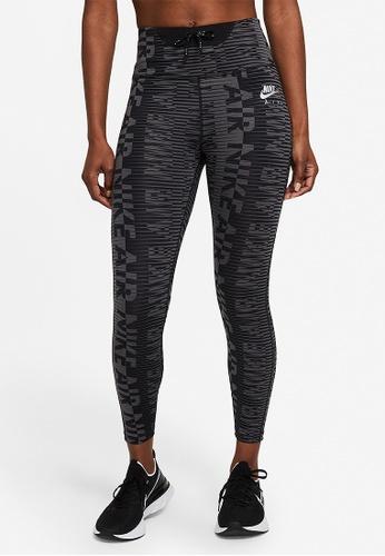 Nike black Air Epic Fast Printed 7/8 Running Tights 8910BAA5DD6CC9GS_1