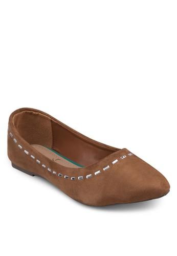 經典珠飾平esprit 台北底鞋, 女鞋, 芭蕾平底鞋