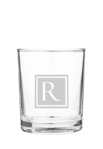 Myriad Print Concepts white Whisky Scotch Glass (Glass-etched Initial) 53B4CES3D358F8GS_1