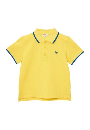 Du Pareil Au Même (DPAM) yellow Light Yellow Polo Shirt F3FF6KA6F681AFGS_1
