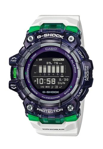 Casio white G-shock Bluetooth Skeleton Bezel Digital Watch GBD-100SM-1A7 6B6D5AC6E9792CGS_1