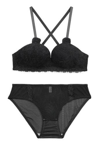 ZITIQUE black Comfortable And Cute Bra Set-Black 522A1USE193FC5GS_1