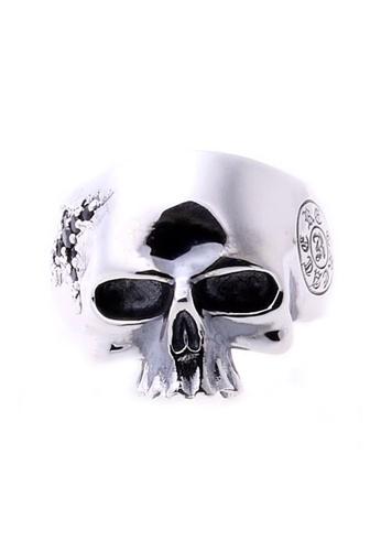 The LoveMark silver ReCreate Scratch Ring Black CZ TH516AC05PJIPH_1
