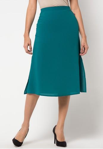 Raspberry green Presley Klok Midi Skirt RA572AA75YQMID_1