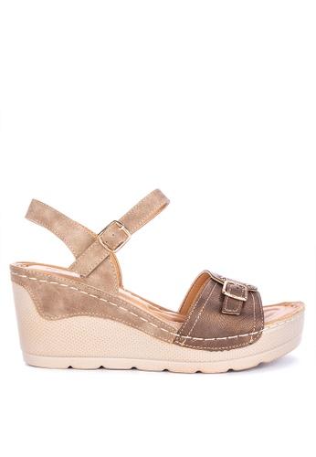 8e1c61e0d9a Shop UNLISTED Mariel Ankle Strap Wedge Sandals Online on ZALORA Philippines