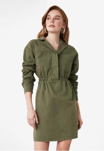 Trendyol green Pocket Detailed Shirt Dress 3AE36AADA48A13GS_1