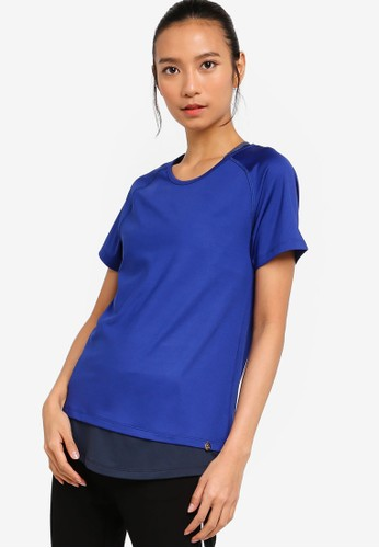AVIVA blue Short Sleeve Top 37CFDAA796496CGS_1