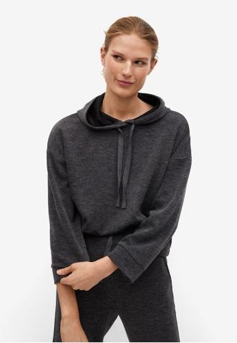 Mango grey Flecked Oversize Sweatshirt 65BF8AAB6AAC42GS_1