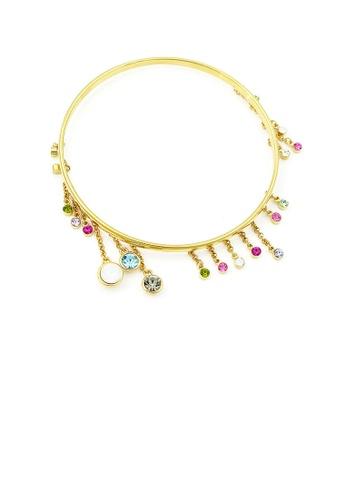 Glamorousky multi Enchanting Bangle with Multi-colour Austrian Element Crystals 54DAEACF102C12GS_1
