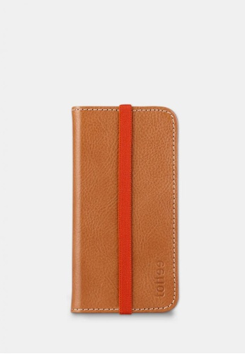 toffee brown Flip Wallet - iPhone 6/6s - Tan TO318AC0FQ7NSG_1
