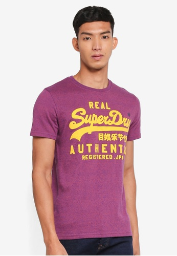 Superdry blue Vintage Authentic Grit Tee 4A08CAA38C4788GS_1