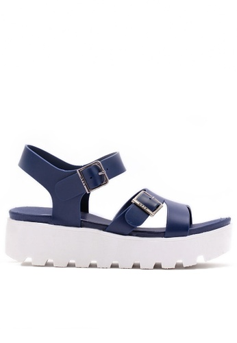 Twenty Eight Shoes blue PVC Sandals TW446SH72AELHK_1