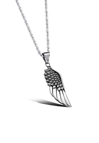 ADORA silver Stainless Steel Angel Wing Pendent Necklace 64F31ACCAEE7AAGS_1