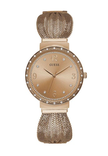 Guess Watch pink Guess Chiffon Rose Gold Mesh Watch 7E345ACB01F049GS_1
