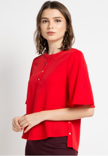 ELLE red Button Creation Blouse B3682AAD7DF548GS_1