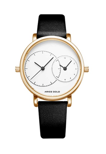 Aries Gold black Aries Gold Wanderer L 5027 Black and Gold Watch 17C68AC3C0AC11GS_1