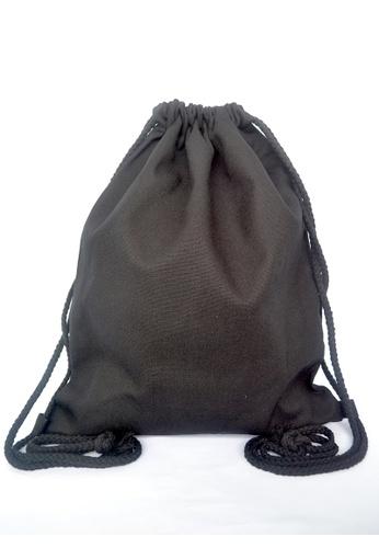 The Twinees black Black Drawstring Bag TH572AC58PTTSG_1