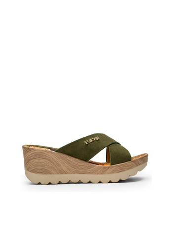 SEMBONIA green SEMBONIA Synthetic Leather Wedges (Dark Green) 3FA87SH4BBDF81GS_1