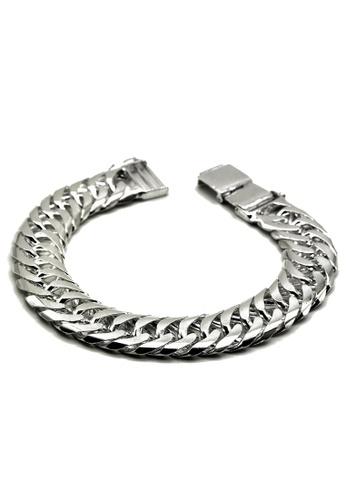 Elfi silver Elfi Genuine Solid 925 Silver Centipede 60g Bangle Bracelet 09B26AC39FE9BDGS_1