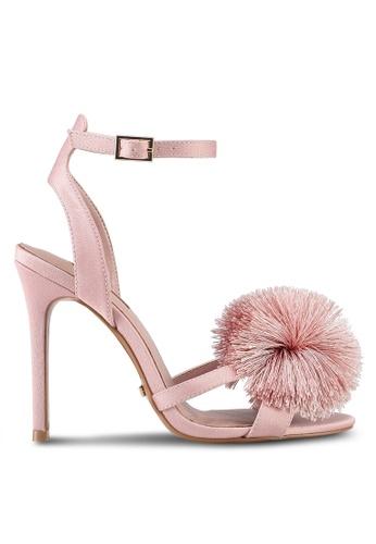 TOPSHOP pink Renee Pom Pom Heels 88DFFSHCF4C8ADGS_1