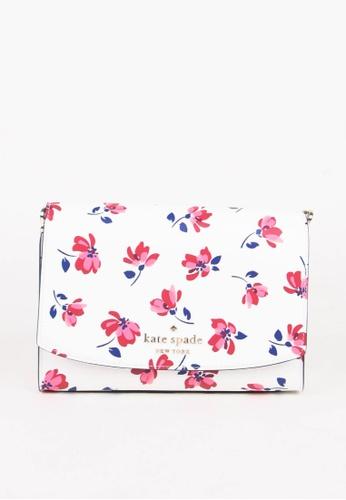KATE SPADE white Kate Spade Carson Floral WKR00429 Convertible Crossbody Bag In Multi 0C898AC1CBAA4AGS_1