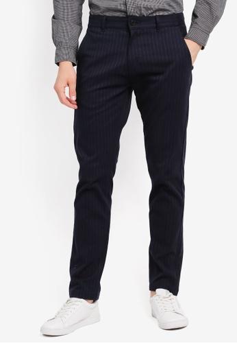 ESPRIT navy Woven Regular Pants ES374AA0SPJEMY_1