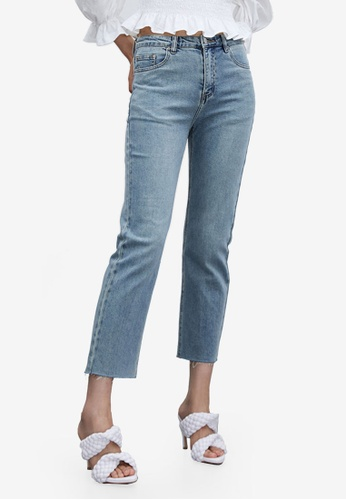 Urban Revivo blue Wash Jeans 79554AA9C31613GS_1
