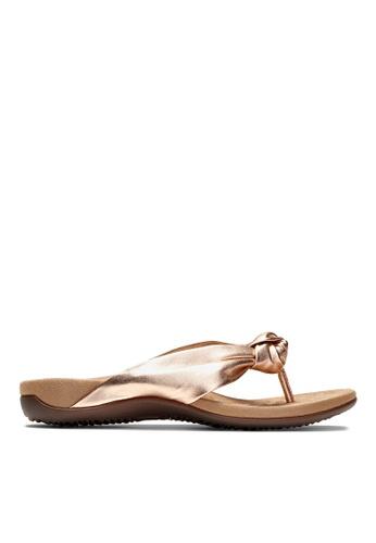 Vionic gold Pippa Toe Post Sandal 2DC5ASH538DE1DGS_1