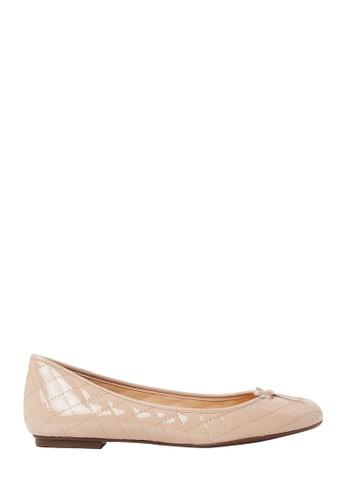 Nina Armando beige Laura Patent Leather Ballet Flats NI342SH0FV97SG_1