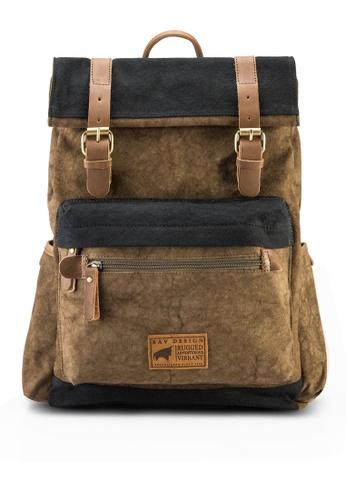 RAV Design brown Canvas Backpack RA113AC08IZNMY_1
