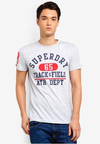 Superdry 銀色 短袖印花T恤 34971AA209A25DGS_1