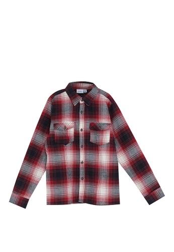NAME IT red Omok Long Sleeves Shirt 3AEB8KA9409D5FGS_1