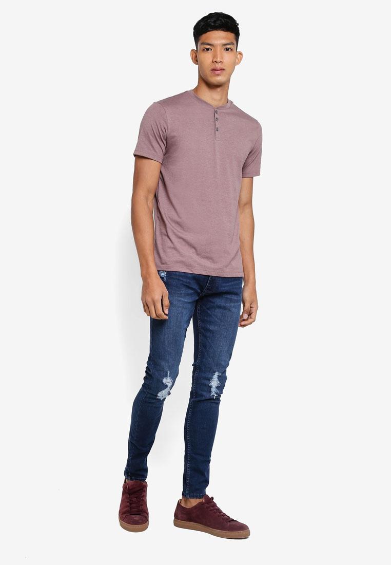 Blue Super Mid Jeans Mid Fit Ethan Burton Blue Ripped Menswear Skinny London fdtqt4w