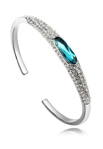 LOVENGIFTS blue Oval Glitter Cuff Bangle AA44AACE03BC26GS_1