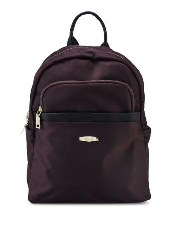 Mel&Co brown Nylon Mini Backpack DD7ADAC7246498GS_1