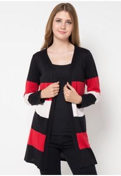 harga Cardigan Ringgo 3 Colourfull Stripes Zalora.co.id