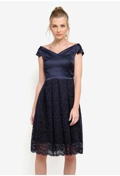 harga Zoe Full Lace Skirt Midi Dress Zalora.co.id