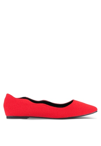 VINCCI red Pointed Toe Flats VI831SH0SY41MY_1
