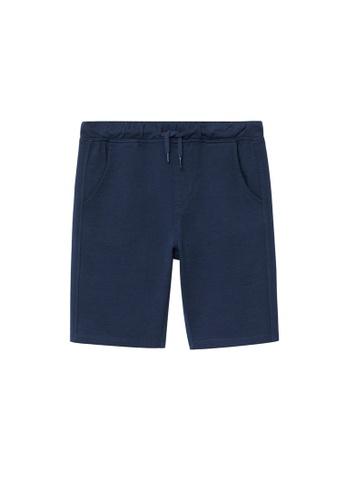 MANGO KIDS blue Organic Cotton Jogging Bermuda Shorts 1408CKAFDFF7CEGS_1