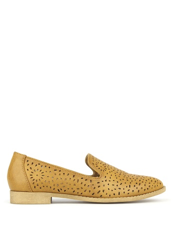 Betts brown Valentine Perforated Slip-On Shoes B4C2BSH72D1788GS_1