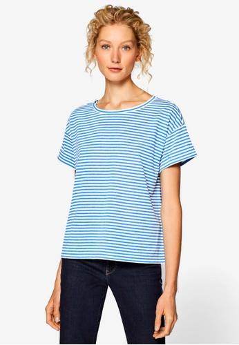 ESPRIT blue Short Sleeve T-Shirt EAF1FAA0356F98GS_1