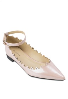 Cut Out Pointed Ankle Flats