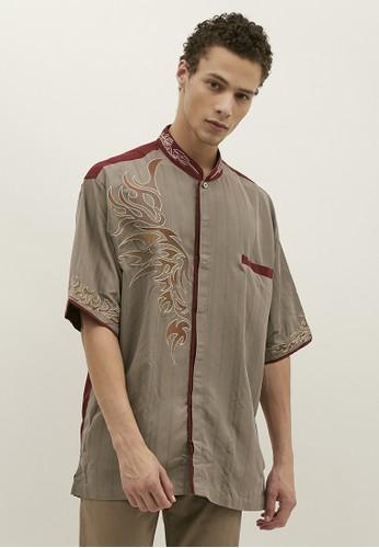 Woffi grey Semey Koko Shirt 6D7D1AA0BBB2D6GS_1