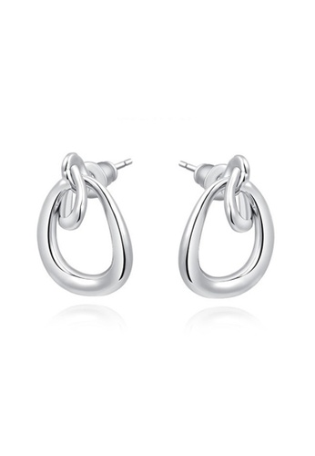 Kings Collection silver Platinum Simple Earrings 4871BAC2A0EDD6GS_1