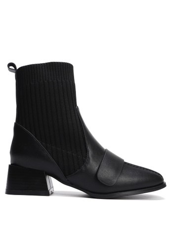 Twenty Eight Shoes Socking Leather Ankle Boots YLT306-1 874D9SHF92A359GS_1