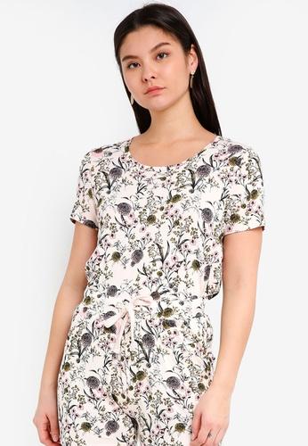 ICHI beige Lisa T-Shirt EFCCBAA455359EGS_1